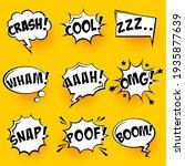 comic speech bubbles with... | Shutterstock .eps vector #1935877639