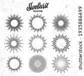 vintage grunge sunburst... | Shutterstock .eps vector #1935886699