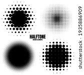 circle halftone design elements ... | Shutterstock .eps vector #1935886909
