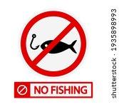 no fishing icon. no fishing... | Shutterstock .eps vector #1935898993