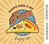 pizzeria advertising fresh hot... | Shutterstock . vector #193590734