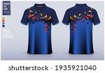 blue polo shirt mockup template ... | Shutterstock .eps vector #1935921040