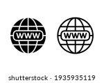 web icon set. go to web icon.... | Shutterstock .eps vector #1935935119