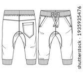 baby boys fleece sweat pant... | Shutterstock .eps vector #1935935476
