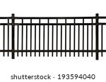black metal fence isolated on... | Shutterstock . vector #193594040