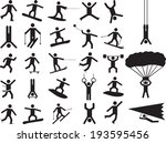 pictogram people doing extreme... | Shutterstock .eps vector #193595456