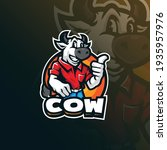 cow mascot logo design with... | Shutterstock .eps vector #1935957976