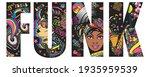 funk slogan. music concept.... | Shutterstock .eps vector #1935959539