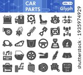 car parts solid icon set ... | Shutterstock .eps vector #1935974929