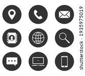 set of website icon vector.... | Shutterstock .eps vector #1935975019