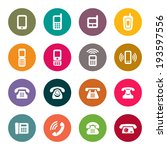 phone icon set | Shutterstock .eps vector #193597556