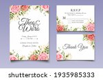 invitation card set with... | Shutterstock .eps vector #1935985333