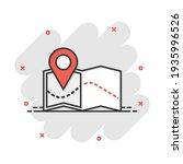 vector cartoon pin on the map... | Shutterstock .eps vector #1935996526