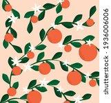 orange blossom background with...   Shutterstock .eps vector #1936006006