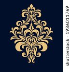 damask graphic ornament. floral ... | Shutterstock .eps vector #1936011769