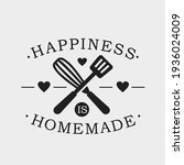 happiness is homemade phrase ... | Shutterstock .eps vector #1936024009