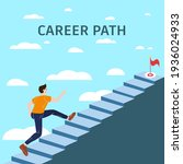 career path young man running... | Shutterstock .eps vector #1936024933