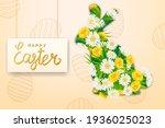 happy easter rabbit from... | Shutterstock .eps vector #1936025023