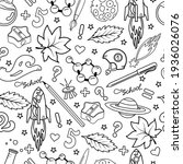school seamless pattern in the...   Shutterstock .eps vector #1936026076