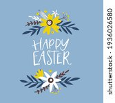 happy easter greeting card.... | Shutterstock .eps vector #1936026580