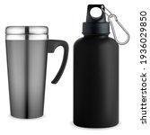 thermo mug whater bottle....   Shutterstock .eps vector #1936029850