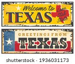 texas sign boards in retro...   Shutterstock .eps vector #1936031173