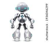 artificial intelligence robot...   Shutterstock .eps vector #1936046299