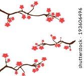 vector cherry blossom   Shutterstock .eps vector #193606496