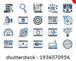 seo line icons set. seo related ...   Shutterstock . vector #1936070956