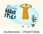 young female character decorate ... | Shutterstock .eps vector #1936072066