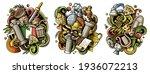 rome cartoon vector doodle... | Shutterstock .eps vector #1936072213