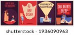 set banners dedicated to kids... | Shutterstock .eps vector #1936090963