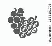 grape icon  fruit vector... | Shutterstock .eps vector #1936101703