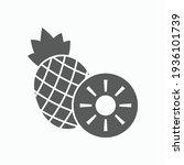 pineapple icon  fruit vector... | Shutterstock .eps vector #1936101739