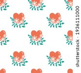 seamless heart pattern with...   Shutterstock .eps vector #1936111000