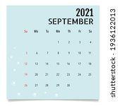 calendar template for 2021 year.... | Shutterstock .eps vector #1936122013
