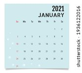 calendar template for 2021 year.... | Shutterstock .eps vector #1936122016