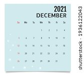 calendar template for 2021 year.... | Shutterstock .eps vector #1936122043