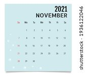 calendar template for 2021 year.... | Shutterstock .eps vector #1936122046