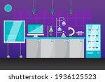 cartoon laboratory room... | Shutterstock .eps vector #1936125523