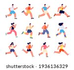 running athletes characters.... | Shutterstock .eps vector #1936136329