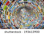 tunnel of media  images ... | Shutterstock . vector #193613900
