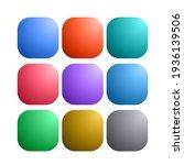 9 colored blank web internet... | Shutterstock .eps vector #1936139506