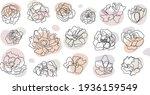 vector set of hand drawn ... | Shutterstock .eps vector #1936159549