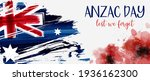 Anzac Day Banner With Grunge...