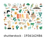 colorful set of brazilian... | Shutterstock .eps vector #1936162486