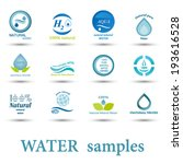 set of different logo water... | Shutterstock .eps vector #193616528