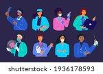 bundle of friendly doctors... | Shutterstock .eps vector #1936178593