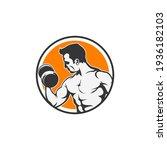 fitness gym logo design... | Shutterstock .eps vector #1936182103