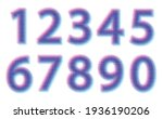 set of color halftone numbers. | Shutterstock .eps vector #1936190206